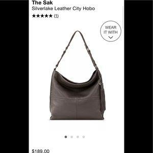 NWOT The Sak Silverlake Leather City Hobo bag gray